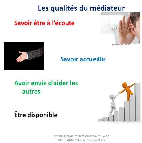 Les qualités du médiateur