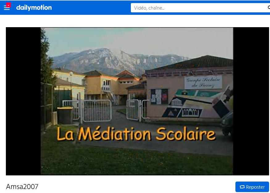 Vidéo Médiation scolaire Aix les Bains