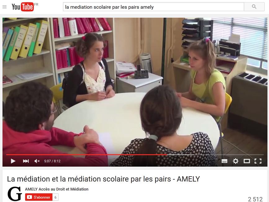 Vidéo Médiation scolaire par les pairs élèves